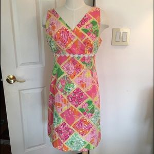 Vintage Lilly Pulitzer Pink Floral Dress Size 12